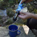 filtro agua de carbon de viaje purificador