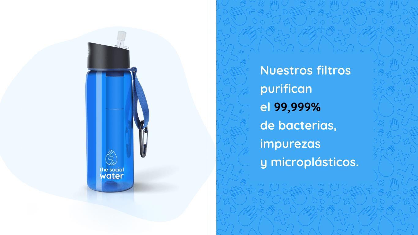 botella filtros de agua